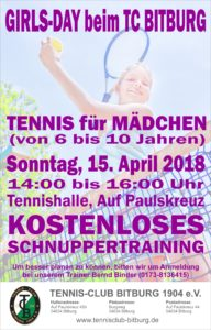 Girls-Day Schnuppertag @ Tennisanlage TC Bitburg | Bitburg | Rheinland-Pfalz | Germany