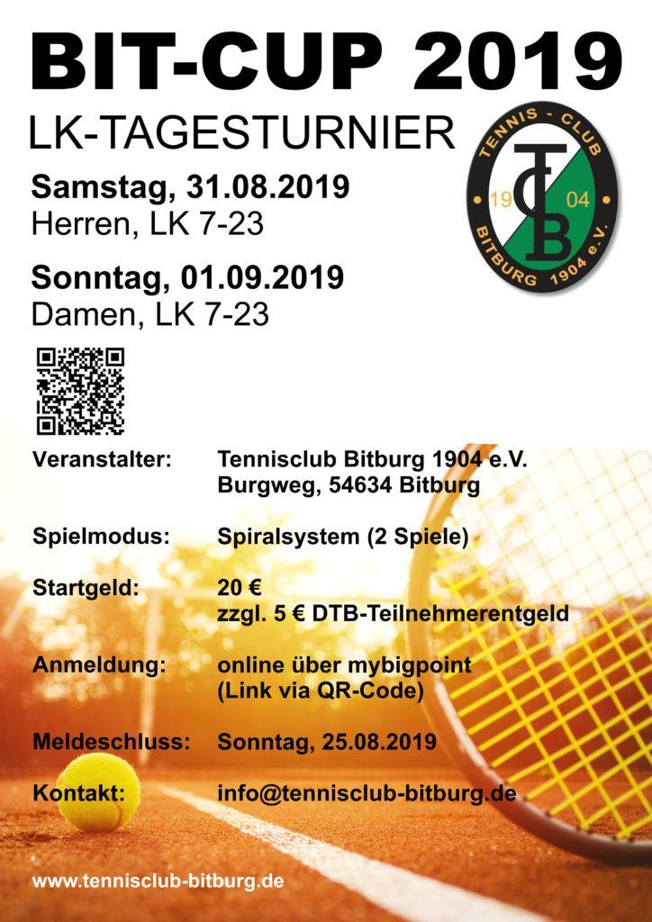 Bit-Cup 2019 - LK-Turnier @ Tennis-Club Bitburg 1904 e.V.